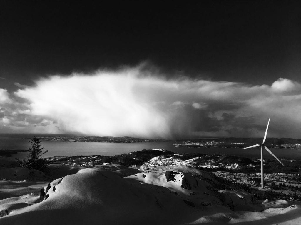 Nordex Turbine in Fitjar, Norway. Taken by Paul Smith
