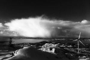 Nordex Turbine in Fitjar, Norway. Taken by Paul Smith.