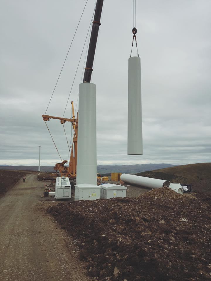 Gamesa Turbine, Hare Hill Wind Farm, Scotland. Photo by Gerard Thompson
