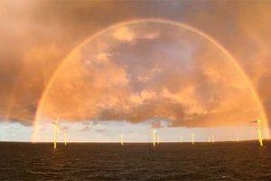 Adrian Peel sent this double rainbow ? in Butendiek, Germany ??