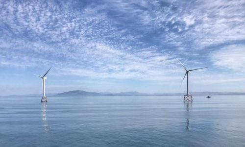 Andy Wilson took this shot. Ormonde Wind Farm off the Cumbrian coast, UK
